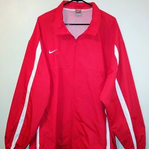 NIKE MENS RED WINDBREAK JACKET FULL ZIP XXL 2XL